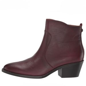 Patricia Nash Suzanna Leather Ankle Boots Merlot